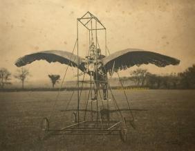 Antique C1904 Edward Frost British Aviation Photo