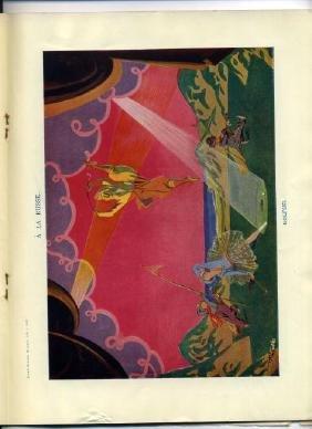 1923 Punch Magazine Insert Page A La Russe