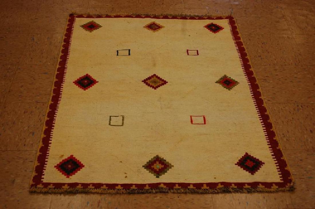 Antique Persian Shiraz Qashkai Sofreh Kilim Rug 3.5x4.4