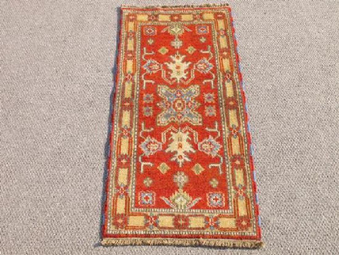 Hand Woven Indo Kazak Design Rug 2x4
