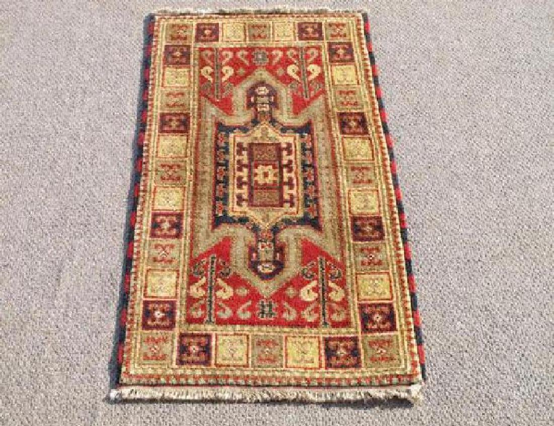 Handmade Indo Kazak Design Rug 2x4