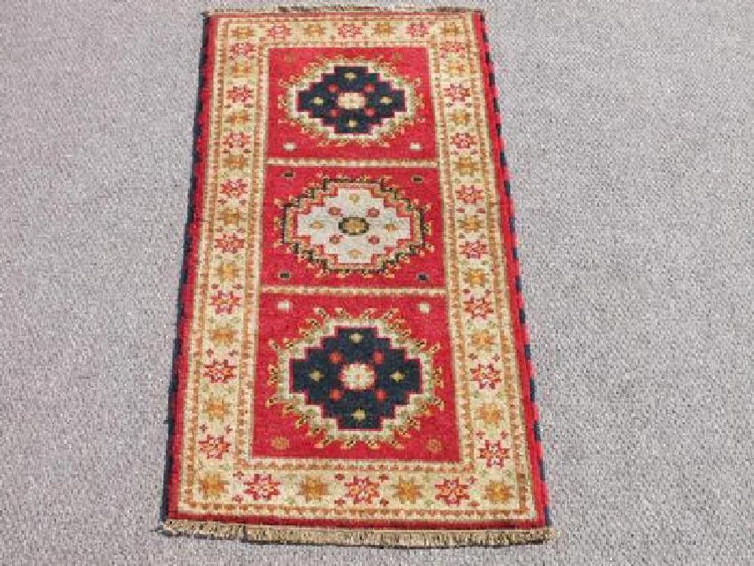 Hand Woven Kazak Design Rug 2x4