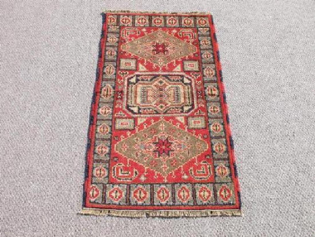 Handmade Kazak Design Rug 2x4