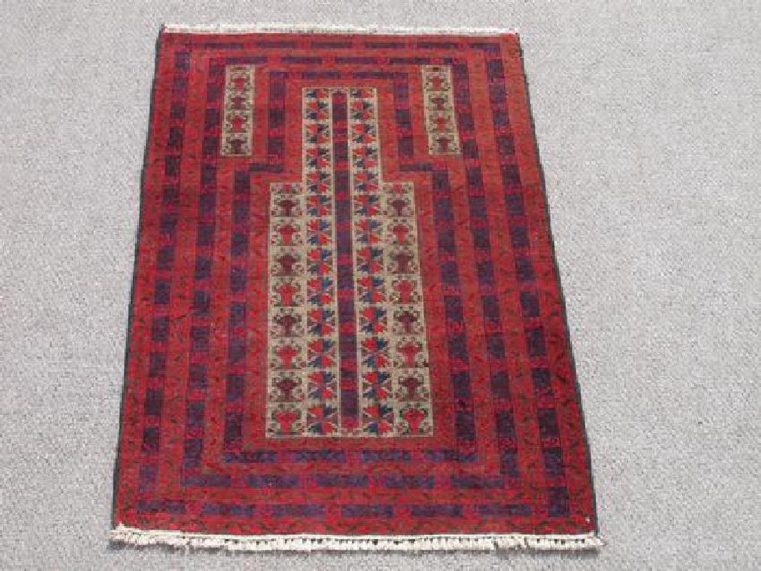 Wool On Wool Afghan Balooch Rug 4.3x2.1
