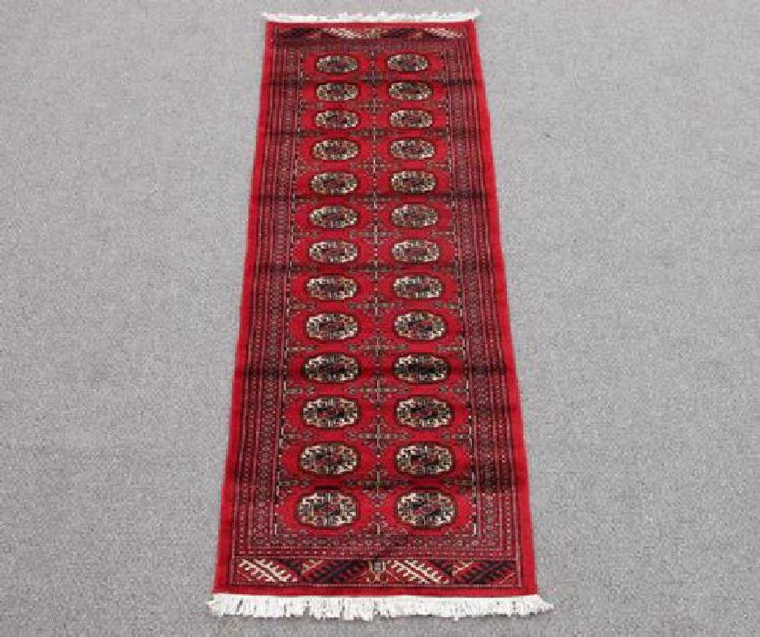 Handmade Soft Wool Bokhara Rug 2x6