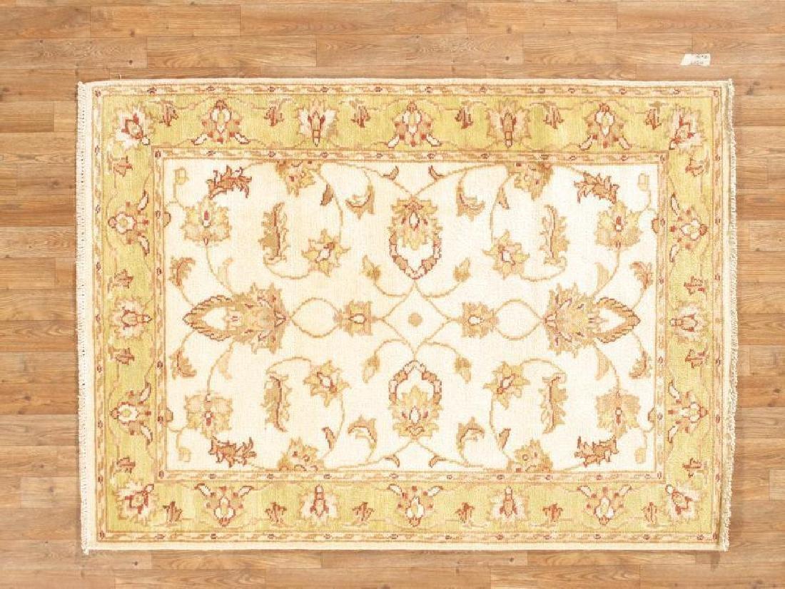 Handmade Wool Indo Peshewar Rug 4x6