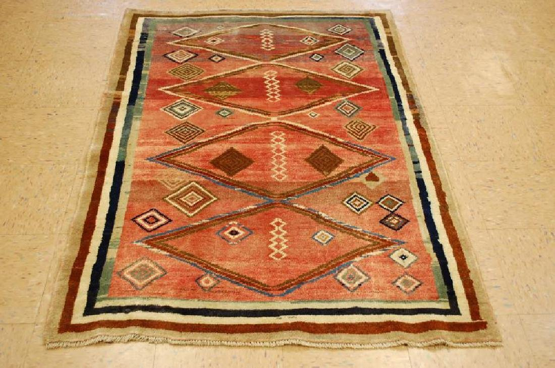Antique Persian Shiraz Qashkai Wool Rug 3.9x5.7