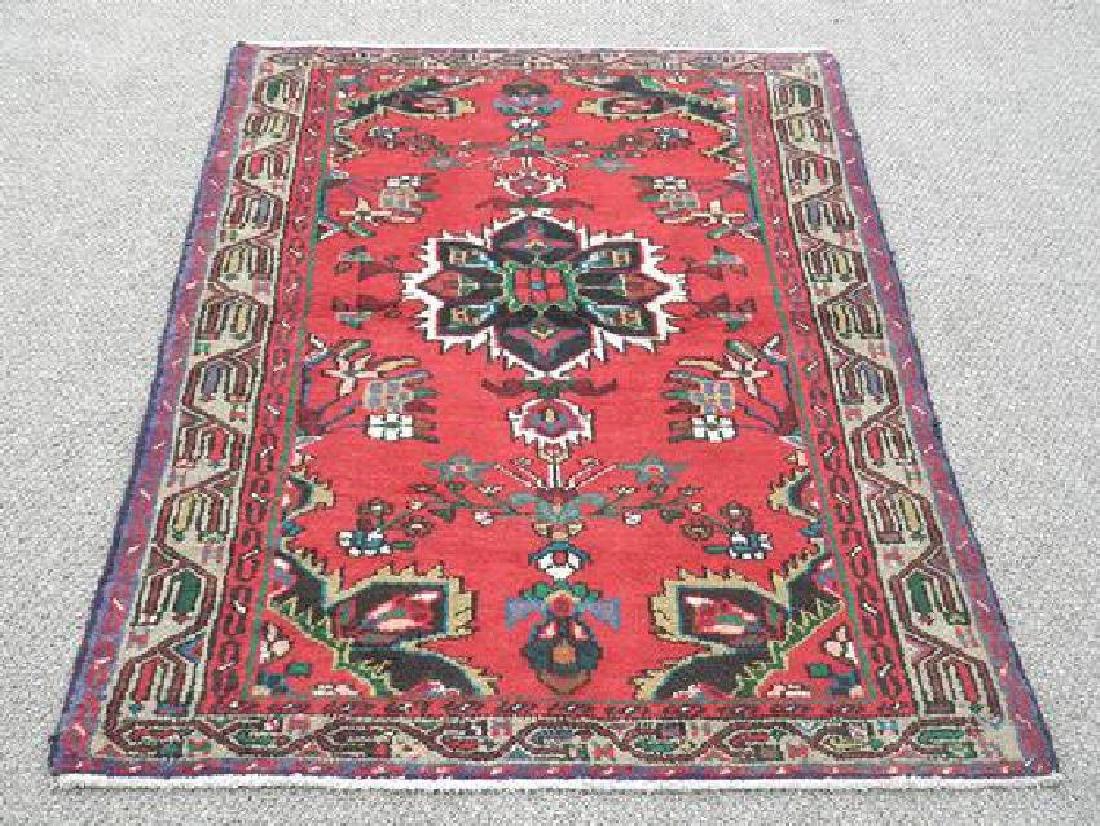 Hand Woven Persian Hamadan Rug 5.1x3.4