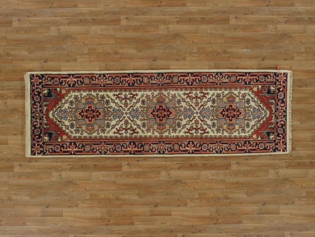 Handmade Wool Serapi Runner Rug 8Ft