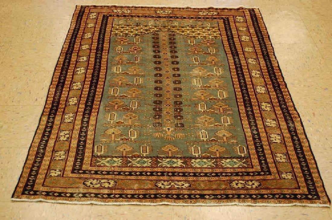 Antique Rare Turkoman Design Caucasian Wool Rug 4.2x5.8