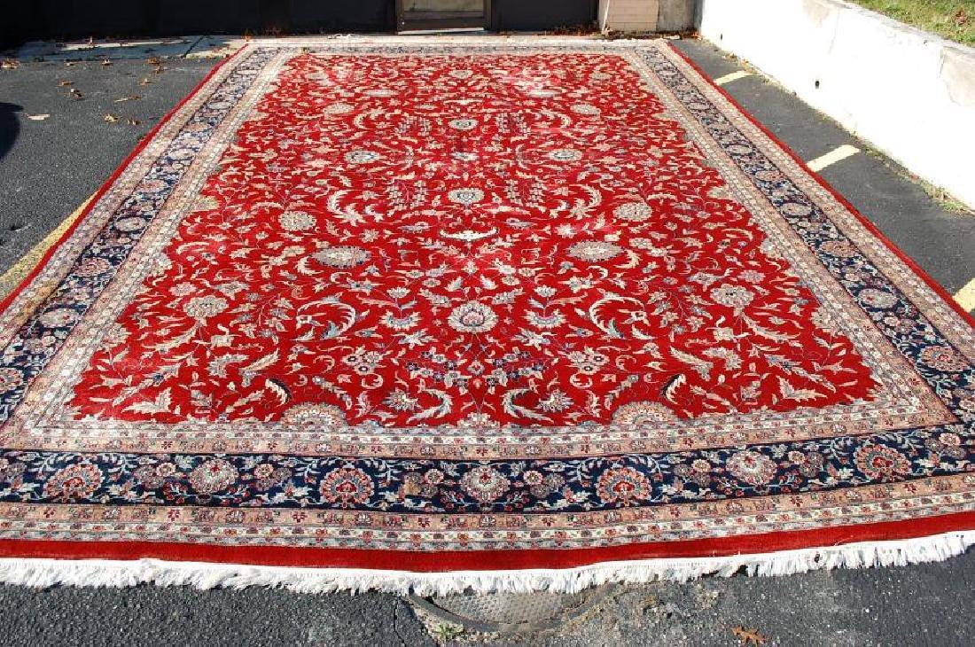 Persian Tabriz Indian Hand Woven Rug 12x18.5