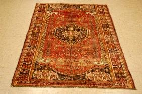 Antique Persian Wool Shiraz Qashkai Rug 3.9x6.6
