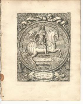 1753 Engraving Great Seal Charles II