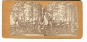 Civil War Era Stereoview Camp Scene C1865