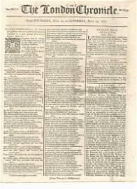 1775 London Chronicle American Revolution
