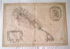 J.N. Bellin: Map of St. Christopher Island, 1758
