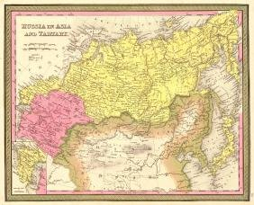 Mitchell: Map of Russia in Asia and Tartary, 1846