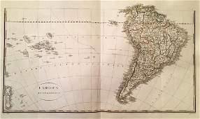 Rossi: Map L'America Meridionale, 1821