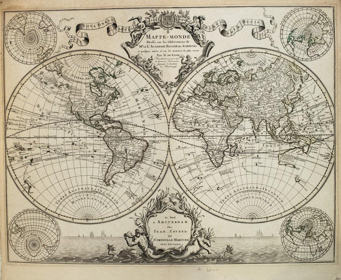 Covens & Mortier: Map of the World Map, 1745