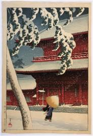 Kawase Hasui: Zojo-ji in Shiba