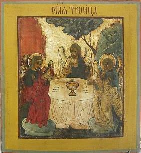 Old Testament Trinity Russian Icon, 19th C