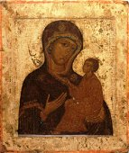 Our Lady Hodegetria of Tichvin Russian Icon, 17th C