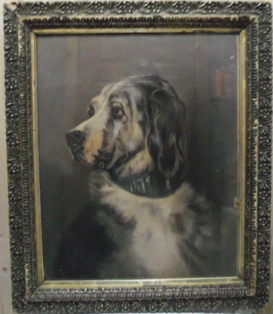 Charcoal Expressionism of a Dog