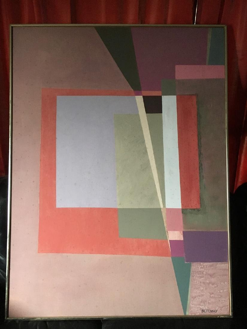 Rose Hart Betensky: Abstract Oil On Canvas