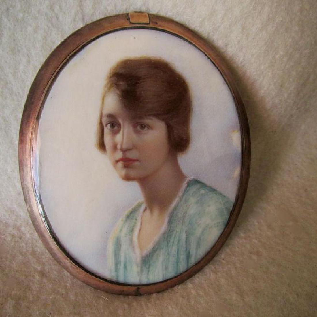 Antique c1900 Edwardian Miniature Mourning Pendant