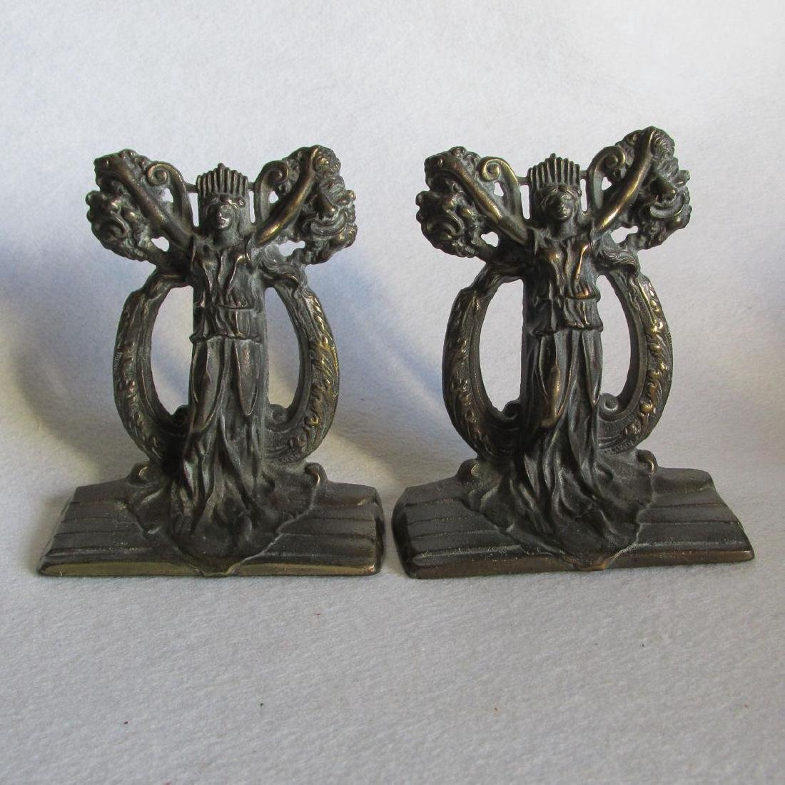 Thespian Bookends by Hubley, Theater Muses
