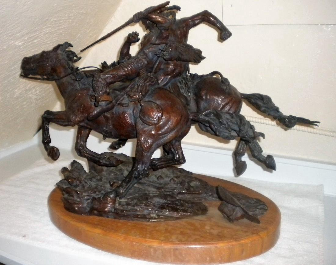 Bronze sculpture The fate of the Scout