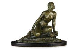 Ugo Cipriani: Nude Bronze Sculpture