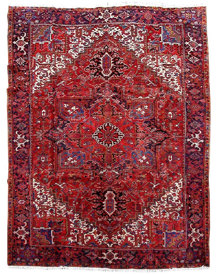 Heriz Iranian Wool Hand Knotted Persian Rug 10x13