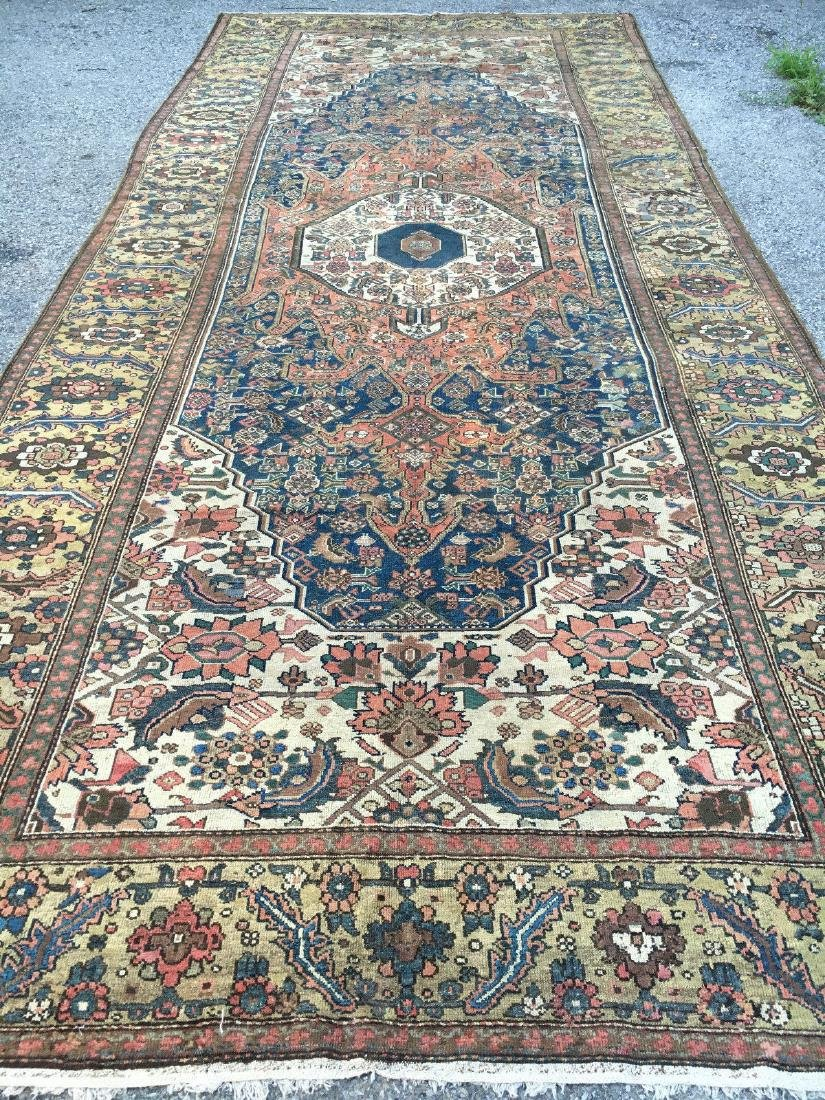 Antique Malayer Wool Rug C1890 7x17