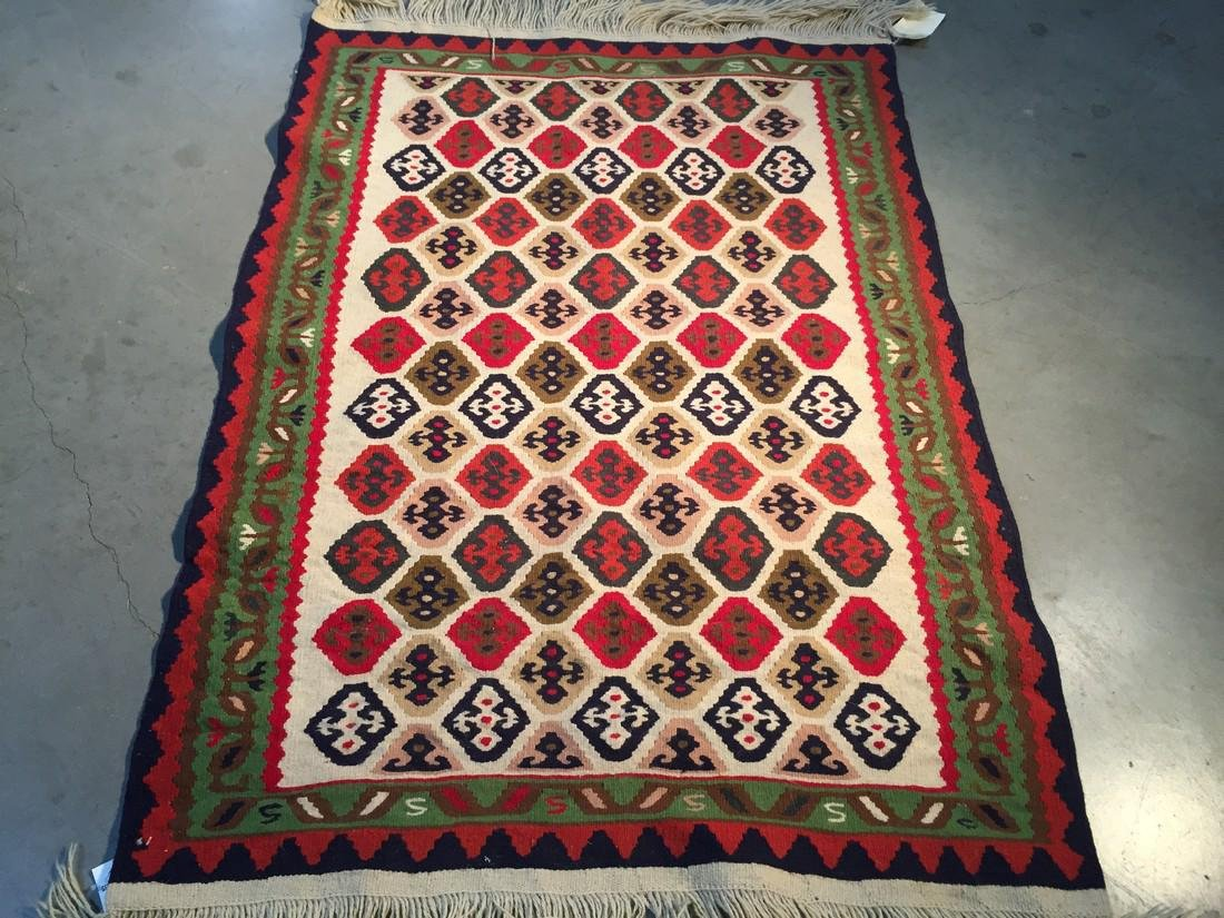 Hand Knotted Reversible Klim Wool Rug 3.3x4.9