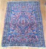 Antique Persian Wool Rug 3.75x2.6 C1930's