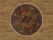 Round Serapi Wool Rug 4x4