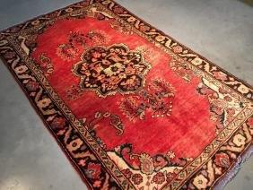 Semi Antique Persian Tabriz Wool Rug 4x6