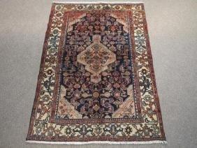 Hand Woven Semi Antique Persian Tabriz Wool Rug 4x6