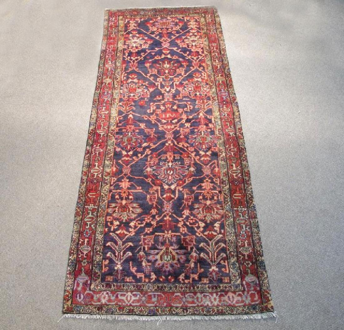 Semi Antique Persian Malayer Wide Wool Runner Rug 11ft