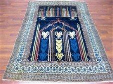Unique Antique Persian Seneh Wool Rug 4.6x6.9
