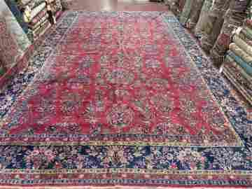 Antique Persian Cork Wool Kasahan Rug 10.9x17.3