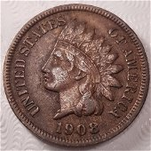 1908-s Key 1c Indian Head Cent, Penny