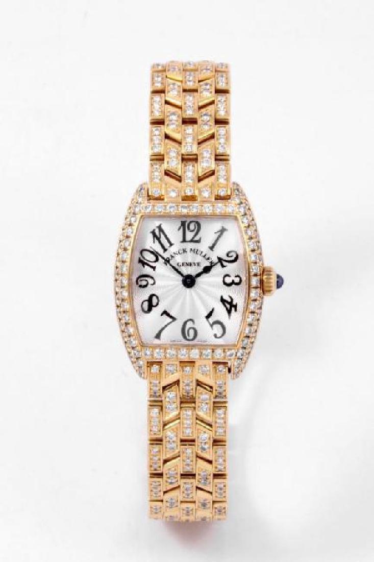 FRANCK MULLER   Cintree Curvex Diamonds   2000s