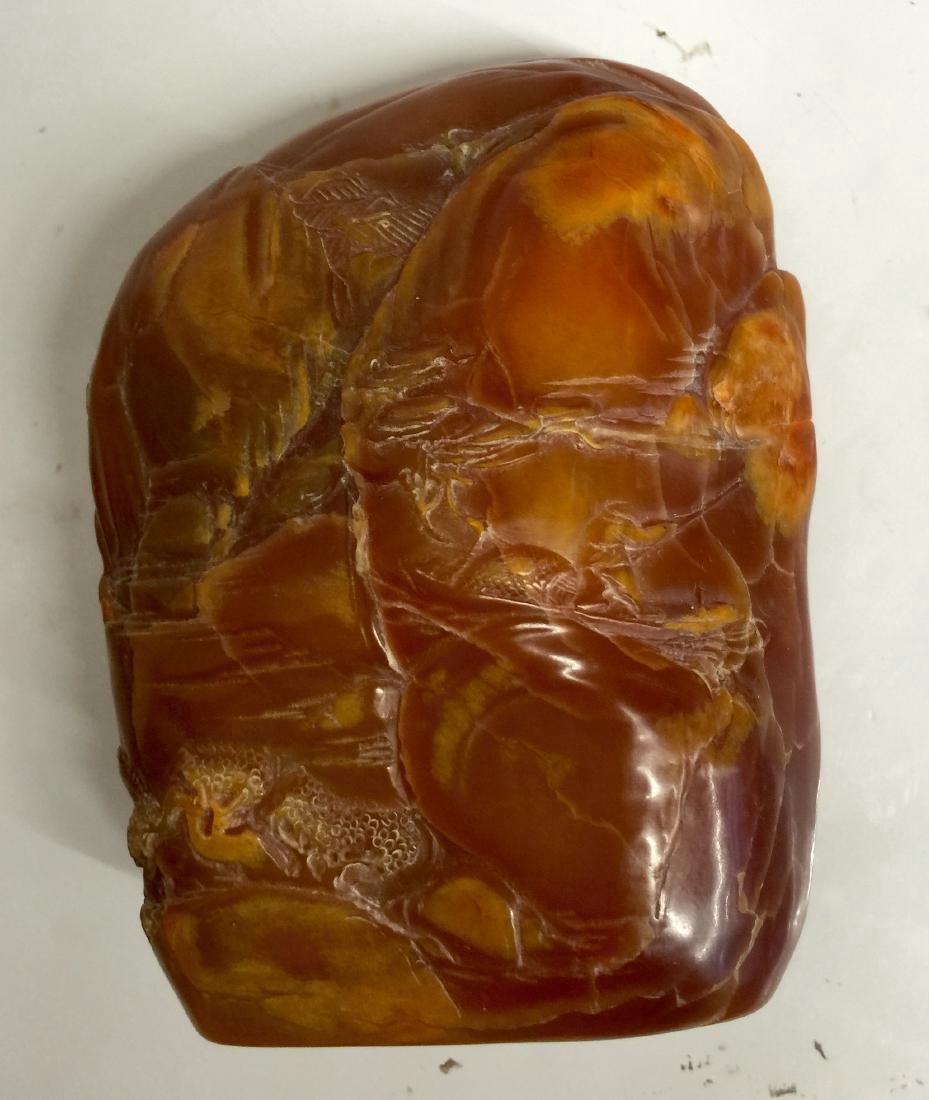 Pressed Amber boulder - 2