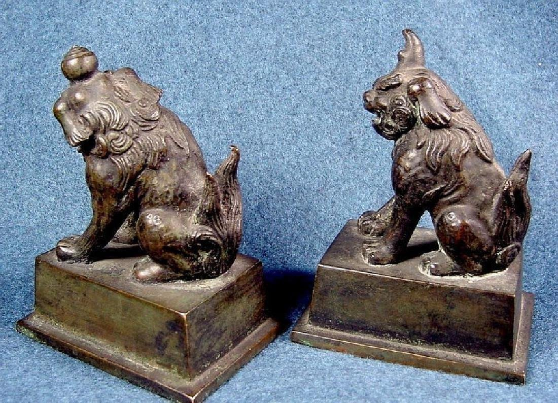 Pair Of Cast Bronze Figures - 6