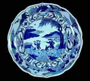 Japanese Blue And White Dish