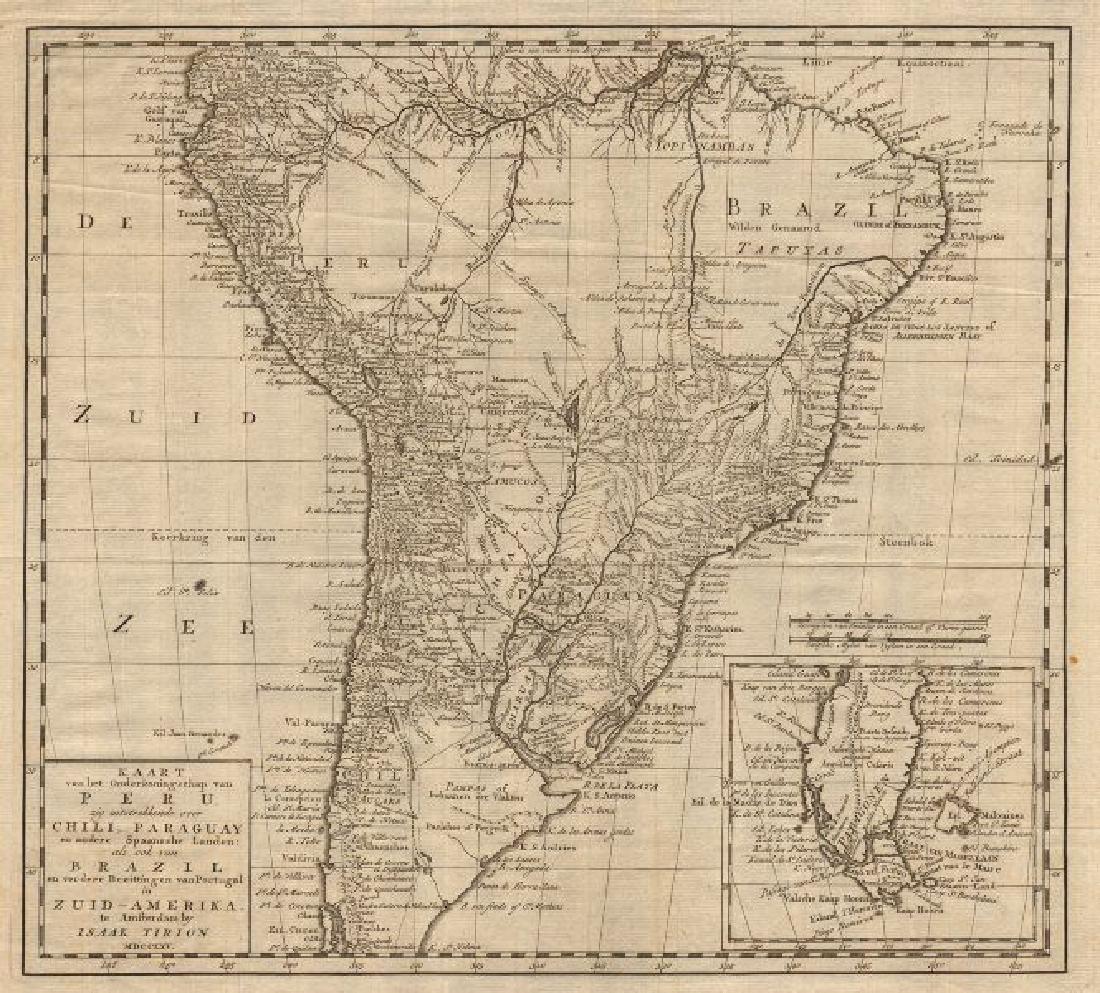 Kaart Van Het Onderkoningschap Van Peru 1765 Map