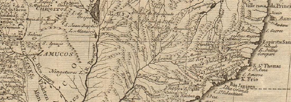 Kaart Van Het Onderkoningschap Van Peru 1765 Map - 2
