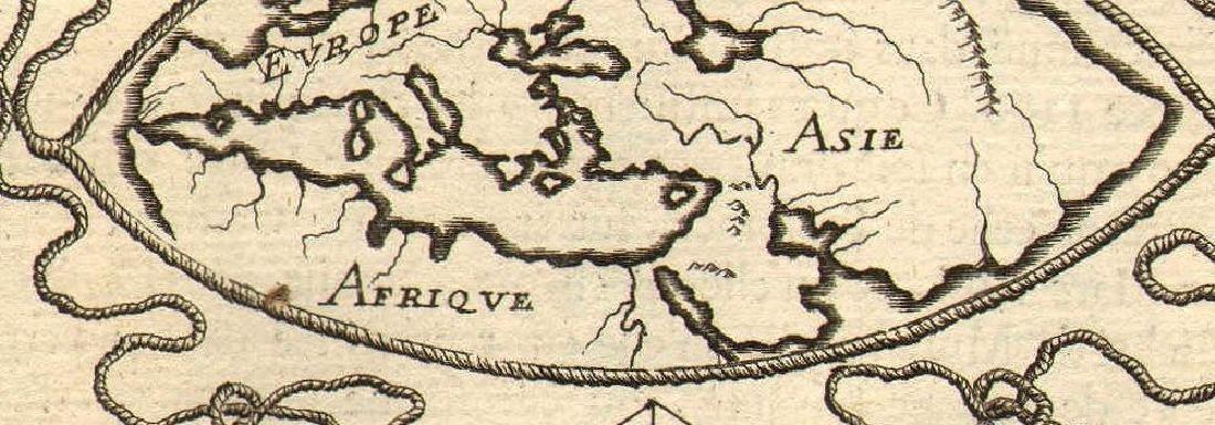 Ancient World Maps, Mela Posidonius & Ptolemy 1683 Map - 2
